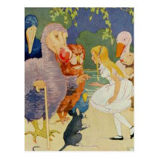 Carte Postale Alice et l'oiseau de dronte à la course de comité