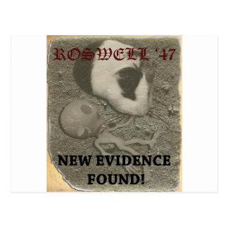 Carte Postale Alien de Roswell de cobaye