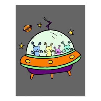 Carte Postale Aliens amicaux