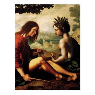 Carte Postale Allégorie chrétienne avant janvier Provoost