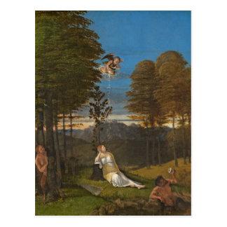 Carte Postale Allégorie de la chasteté, C. 1505 (huile sur le
