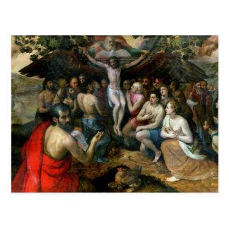 Carte Postale Allégorie de la trinité (huile sur le panneau)