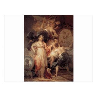 Carte Postale Allégorie de la ville de Madrid par Francisco Goya