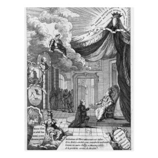 Carte Postale Allégorie du rapport présenté à Louis XVI