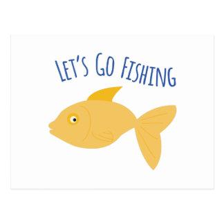 Carte Postale Allez pêcher