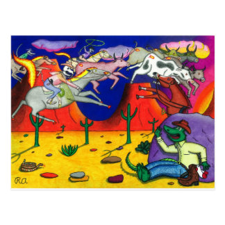 Carte Postale Alligator et les cavaliers de fantôme