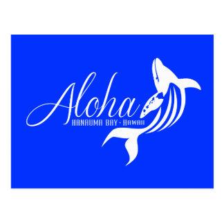Carte Postale Aloha baleines d'Hawaï