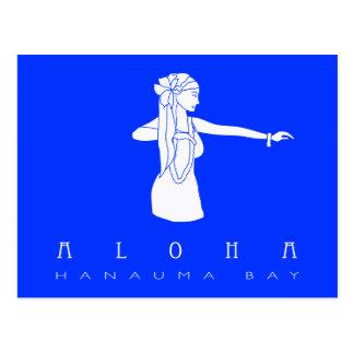 Carte Postale Aloha danseur de danse polynésienne d'Hawaï