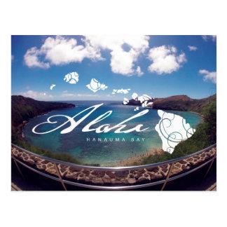 Carte Postale Aloha îles d'Hawaï de baie de Hanauma