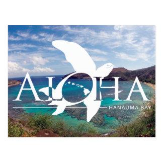Carte Postale Aloha tortue d'Hawaï de baie de Hanauma