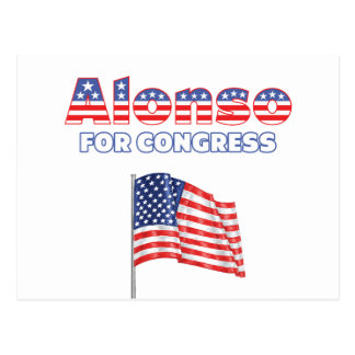 Carte Postale Alonso pour le drapeau américain patriotique du