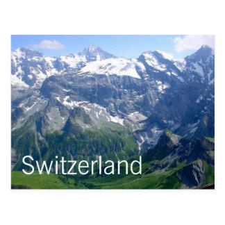 Carte Postale Alpes suisses