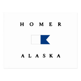Carte Postale Alpha drapeau de piqué de Homer Alaska