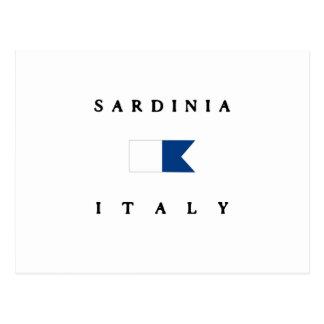 Carte Postale Alpha drapeau de piqué de la Sardaigne Italie