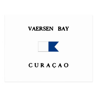 Carte Postale Alpha drapeau de piqué de Vaersen Curaçao