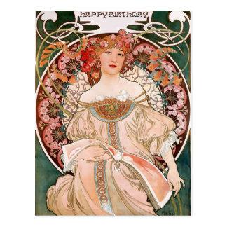 Carte Postale Alphonse Mucha : Rêverie (Rêverie)
