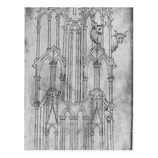 Carte Postale Altitude de la tour de la cathédrale de Laon