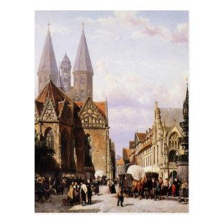 Carte Postale Altstadtmarkt dans Brunswijk par Cornelis Springer