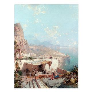 Carte Postale Amalfi, le Golfe de Salerno par Franz Richard