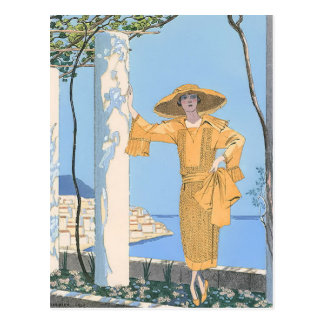 Carte Postale Amalfi par George Barbier