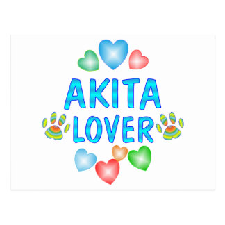Carte Postale Amant d'Akita