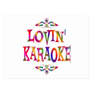 Carte Postale Amant de karaoke