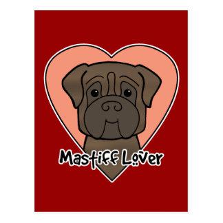 Carte Postale Amant de mastiff