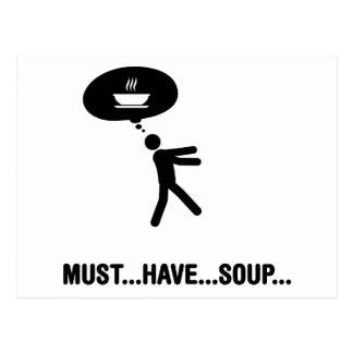 Carte Postale Amant de soupe
