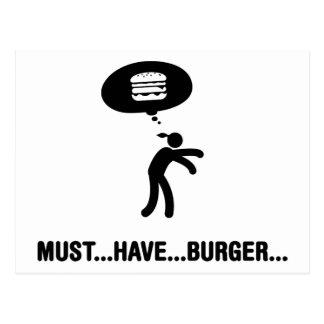 Carte Postale Amant d'hamburger
