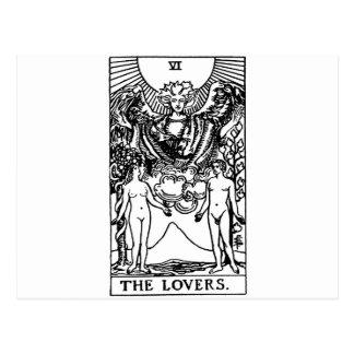 Carte Postale Amants de tarot '