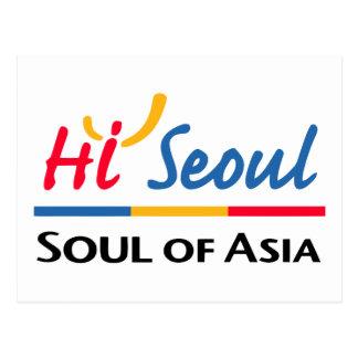 Carte Postale Âme de Séoul de l'Asie