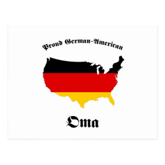 Carte Postale Américain allemand Oma - mamie - grand-mère
