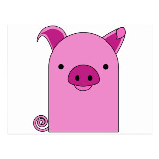 "Carte Postale "" Ami potelé porcin ""rosâtre de Beeny"