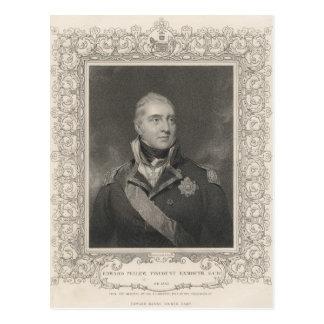 Carte Postale Amiral monsieur Edouard Pellew, c.1810