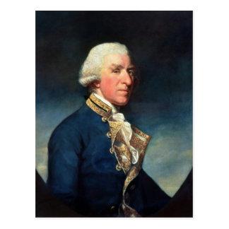 Carte Postale Amiral Samuel Hood, ęr vicomte Hood 1784