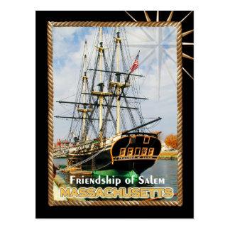 Carte Postale Amitié de Salem, le Massachusetts