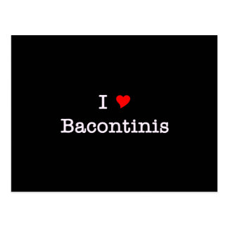 Carte Postale Amour Bacontinis du lard I