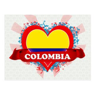 Carte Postale Amour Colombie du cru I