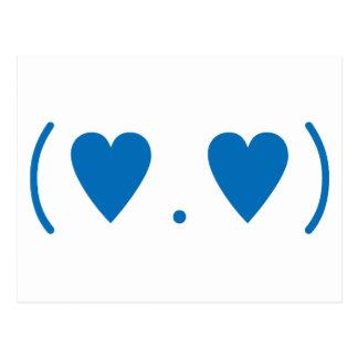 Carte Postale Amour dans bleu-foncé
