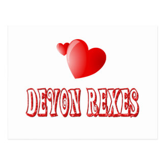 Carte Postale Amour de Devon Rex