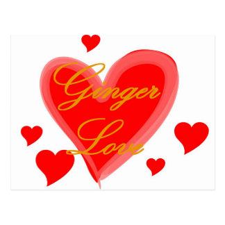 Carte Postale Amour de gingembre