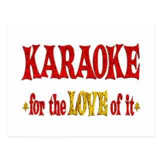 Carte Postale Amour de karaoke