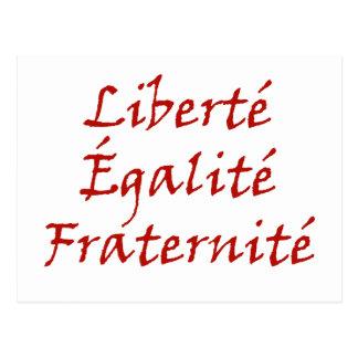 Carte Postale Amour de Les Misérables : Liberté, Égalité,
