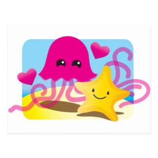 Carte Postale Amour de méduses