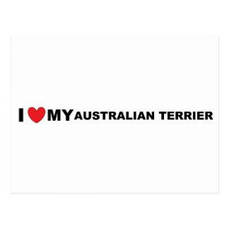 Carte Postale amour de terrier australien