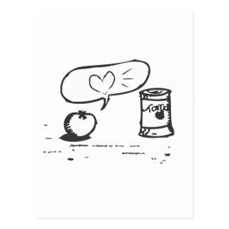 Carte Postale amour de tomate