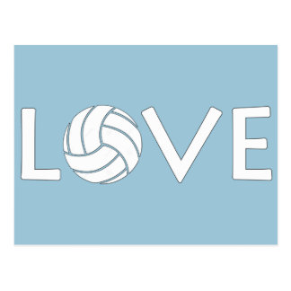 Carte Postale Amour de volleyball
