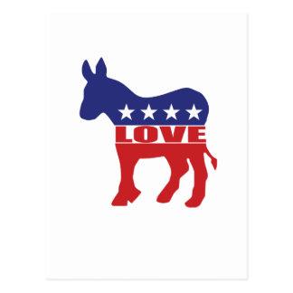 Carte Postale Amour Démocrate