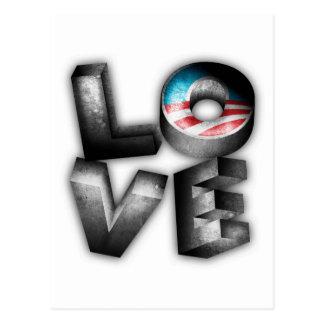 Carte Postale AMOUR d'Obama 2012