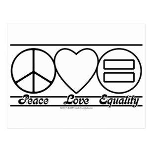 Carte Postale Amour et égalité de paix